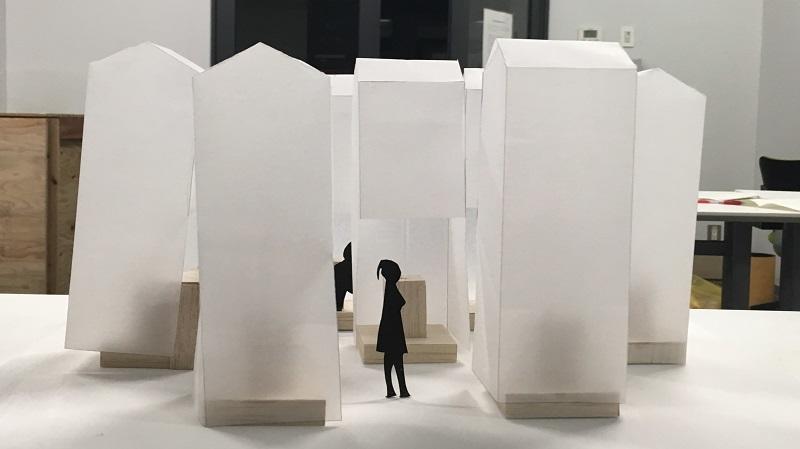 展示製作した屋台と模型での検討を振り返る