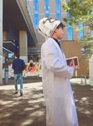 名城大学天白キャンパスでお薬手帳を配布している様子