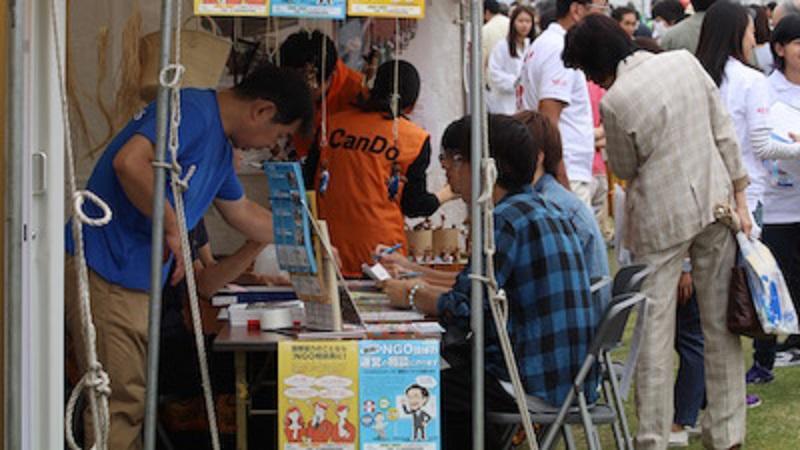 NGO相談員テントにて (2017.09.30)