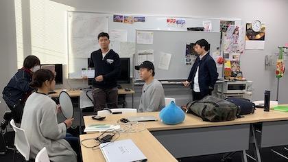 学生チームによるテスト撮影の様子