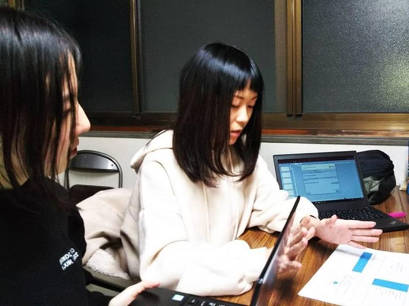 代表阪野の発表:説明資料の作成や説明もブラッシュアップされた。