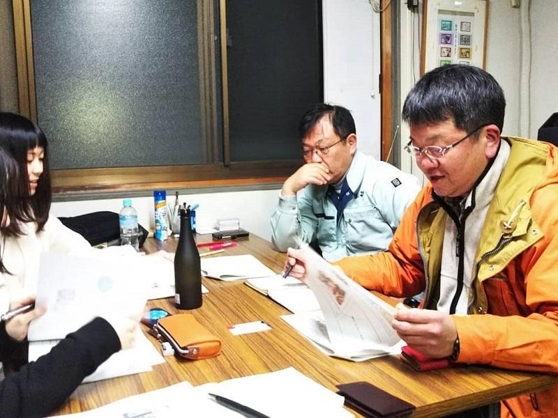 酒造責任者の今泉氏からプロとしての意見と熱心な指導をいただく