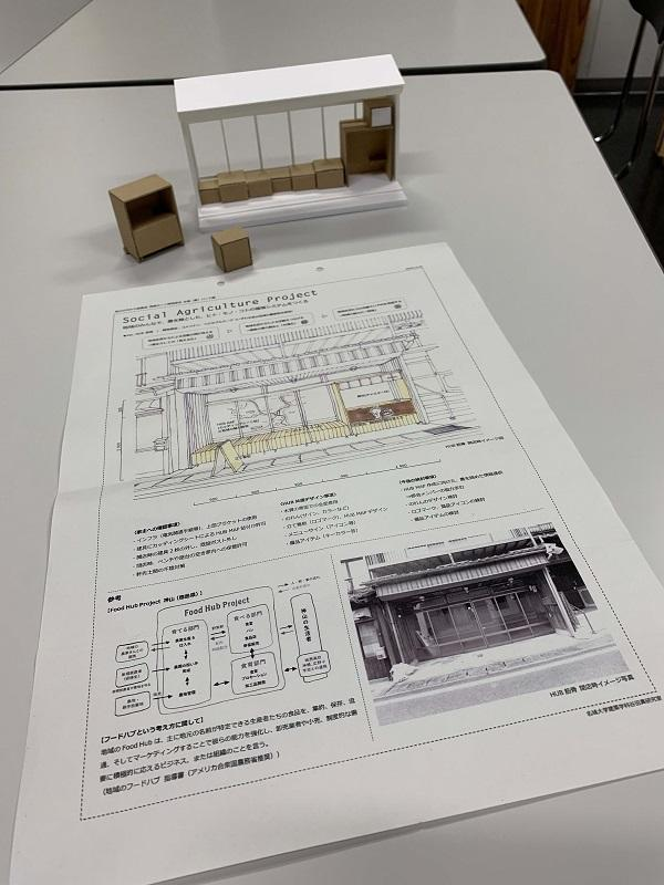 学生たちによる模型づくりと企画シート