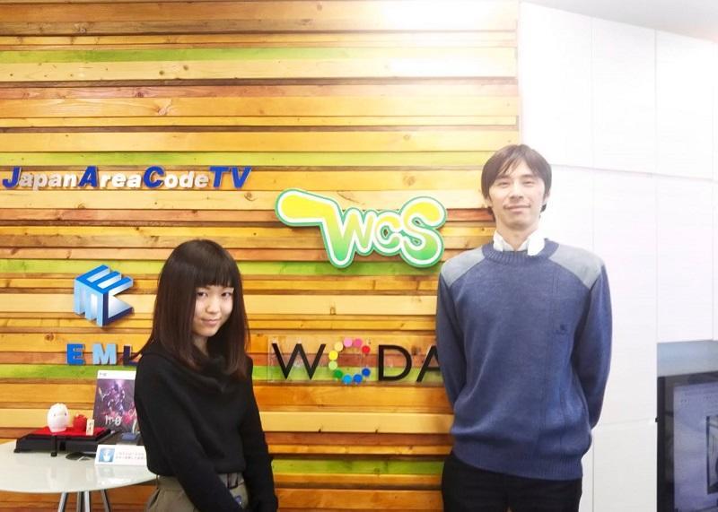 WCS事務局の堀田さんと