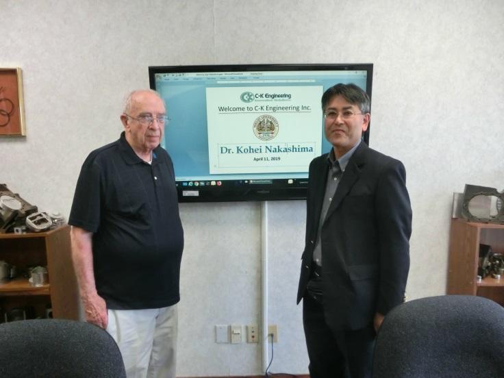 C-K Engineering, Inc.のハロルド・マコ―ミック氏と中島公平教授