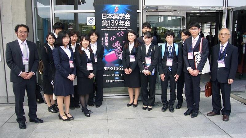 日本薬学会第138年会に参加した学生たち(森研究室)