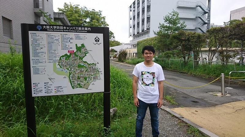 大阪大学に到着した様子 1
