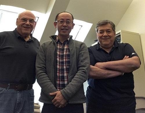 (左から) Lawrence Bergman教授, 仙場淳彦准教授, Alexander Vakakis教授