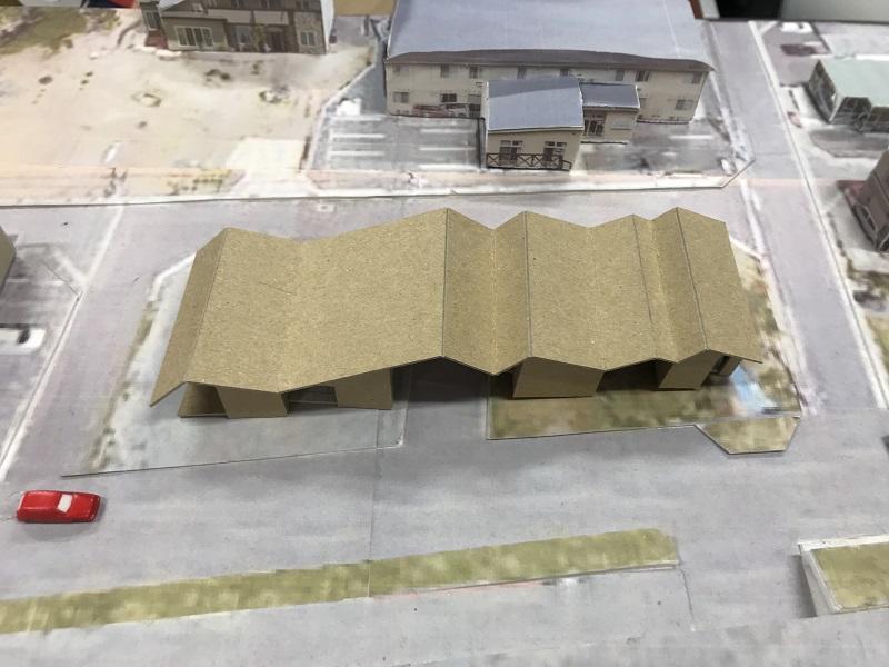 既存施設の前の増築案