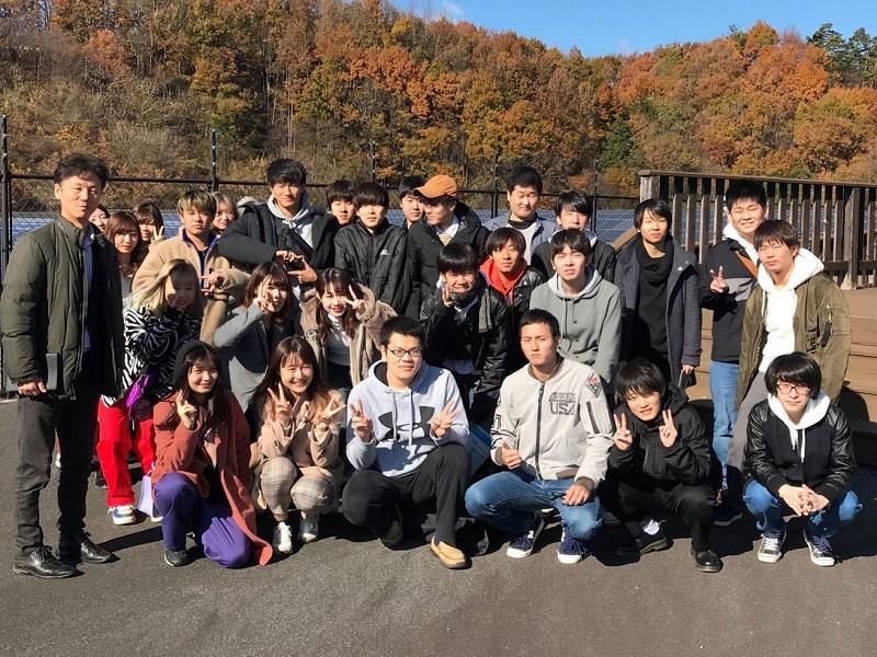 飯田市での市民アンケート調査を終了し、名古屋に戻る前に現地で記念撮影