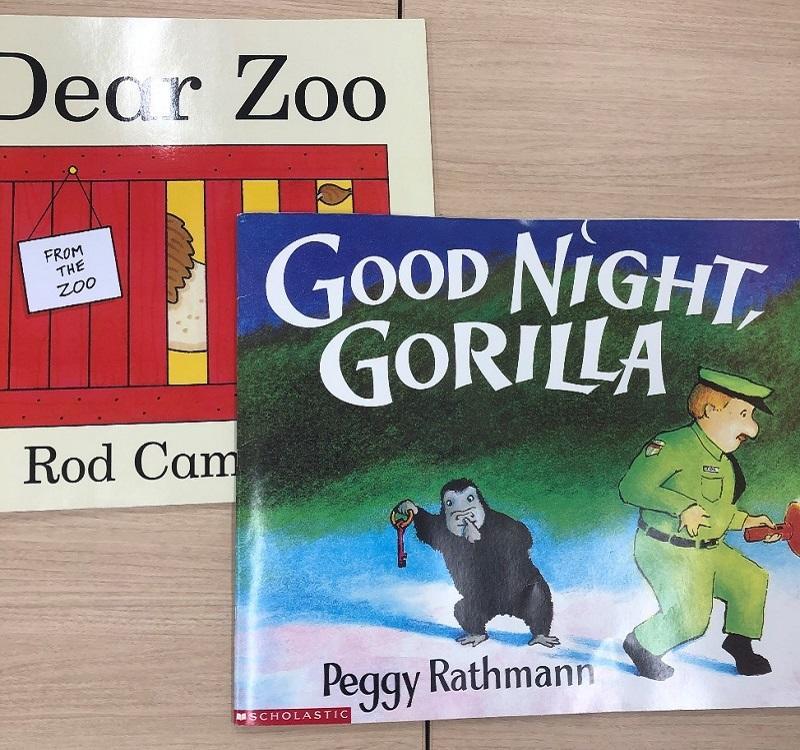 (Good Night GorillaとDear Zooの絵本)