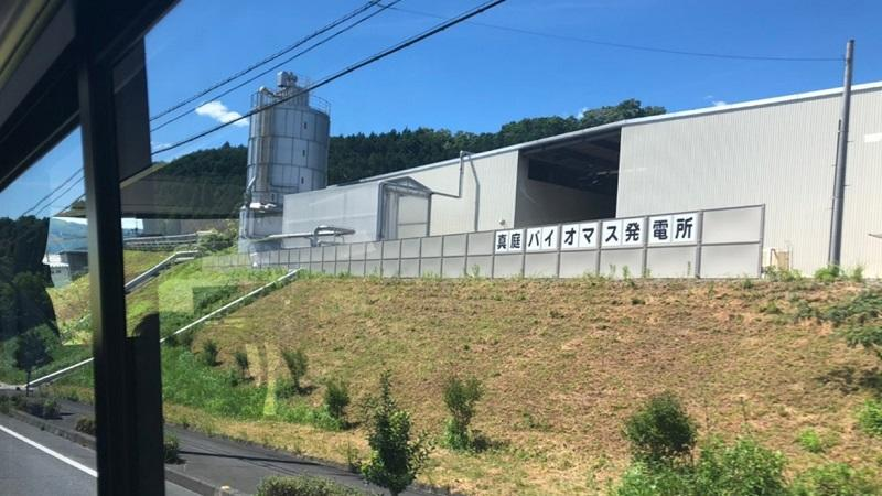 写真3:バイオマス発電所(外観)