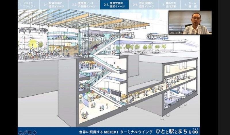 新しい名古屋駅の地下の断面図