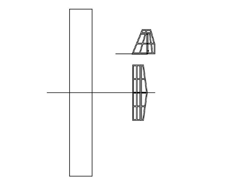 機体の骨組み部品の設計図面