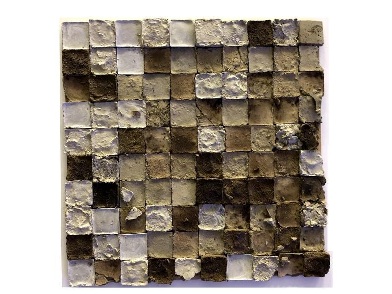コンクリートと土を混ぜて作成した素材モックアップの例