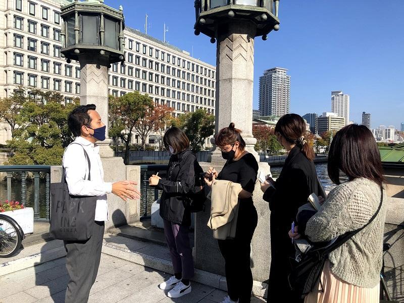 大阪の都市のなりたちと中之島について学ぶ