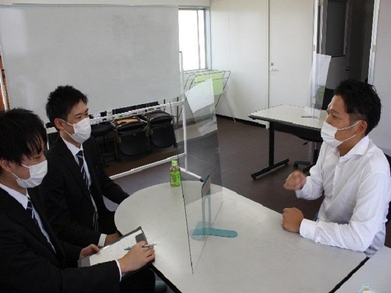 清田産業株式会社でのインタビュー調査の様子