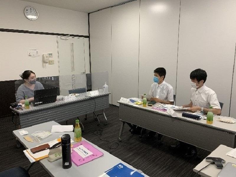 柴山コンサルタント株式会社のインタビュー調査の様子