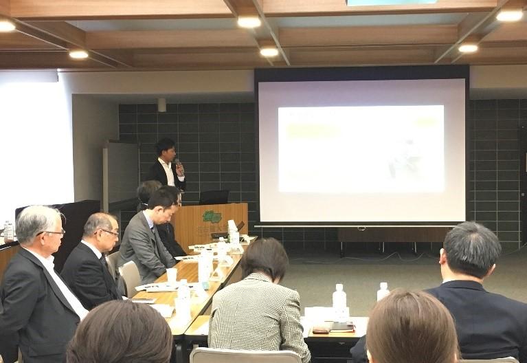 2018年5月8日名古屋大学豊田講堂にて開催された愛岐留学生コンソーシアム学生報告会にて発表する本学留学生