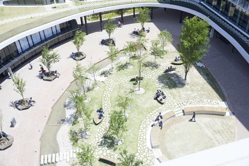 受賞対象となった名城大学ナゴヤドーム前キャンパス