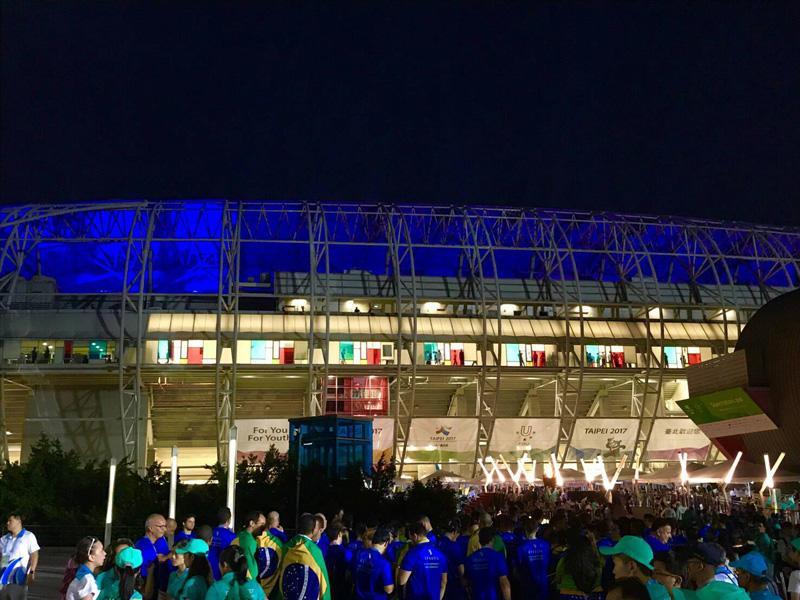 開会式が行われた台北陸上競技場