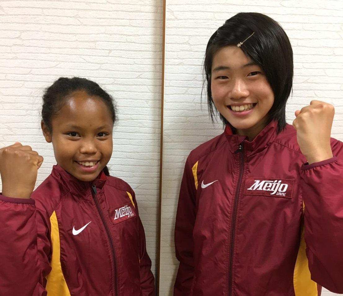 U20世界陸上選手権の日本代表に選ばれた髙松さん(左)と和田さん