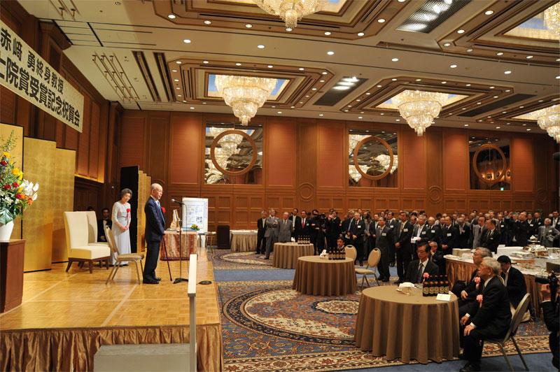 200人の参加者が詰めかけた記念祝賀会(名古屋観光ホテル那古の間で)