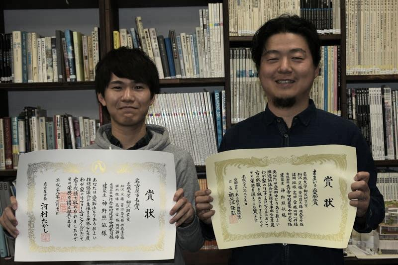 柳沢准教授(右)と菅沼さん