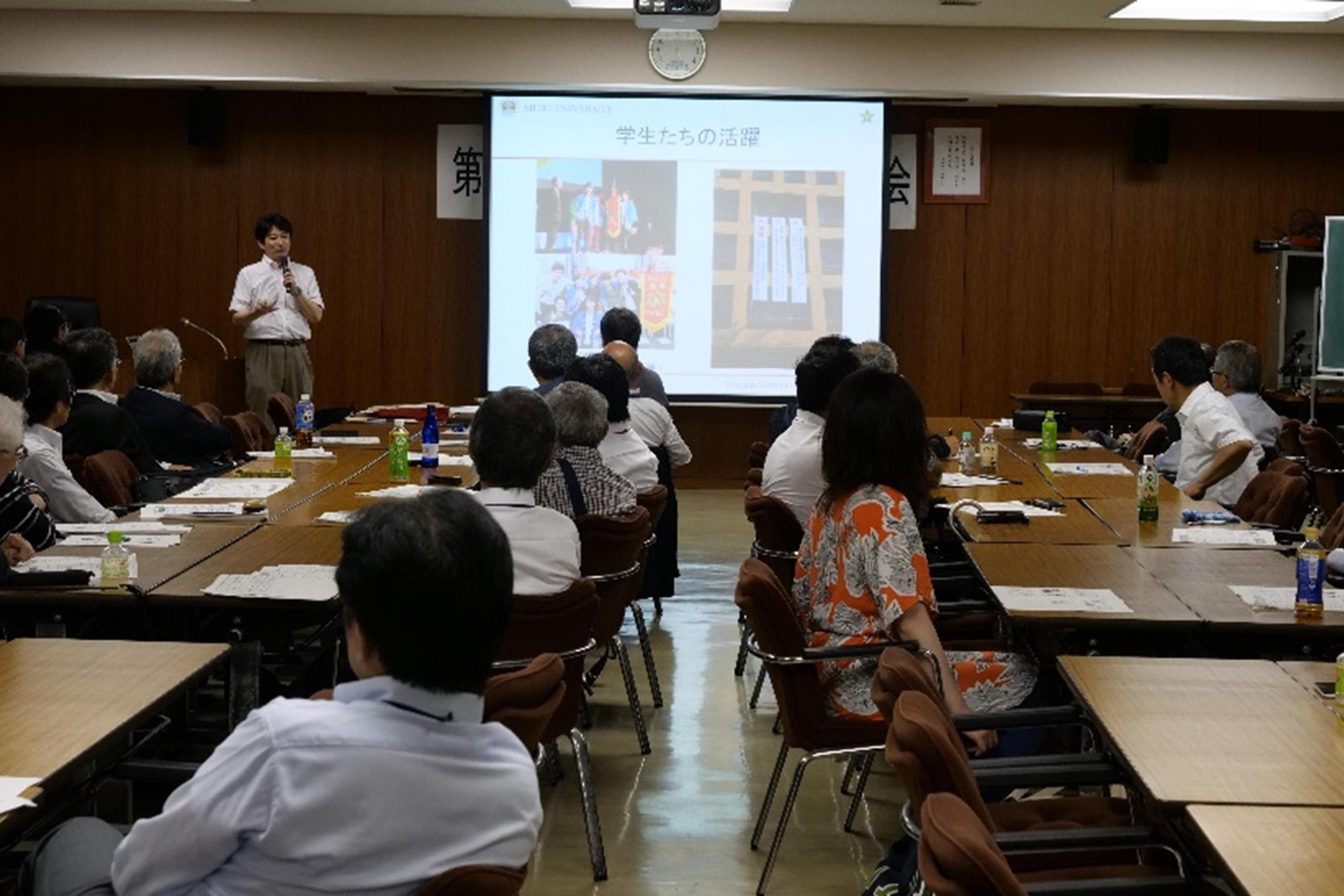 柳田先生による特別講演会の様子