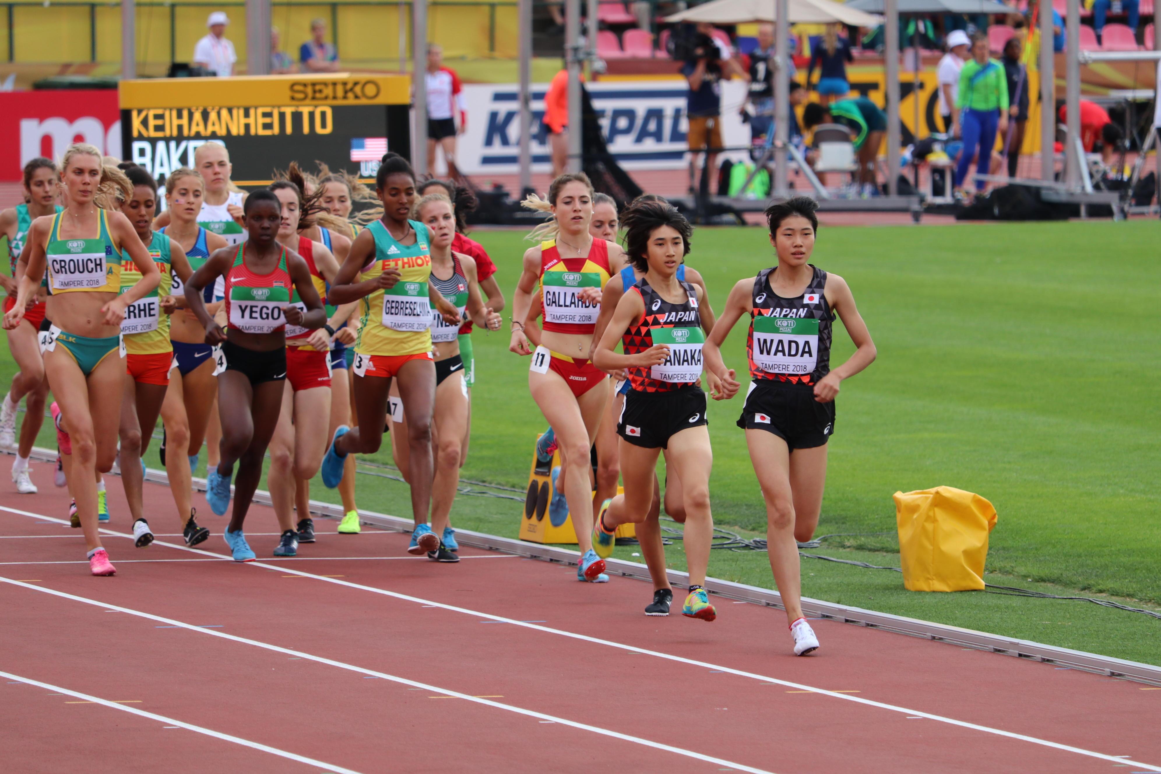 女子3000mで先頭を走る和田さん