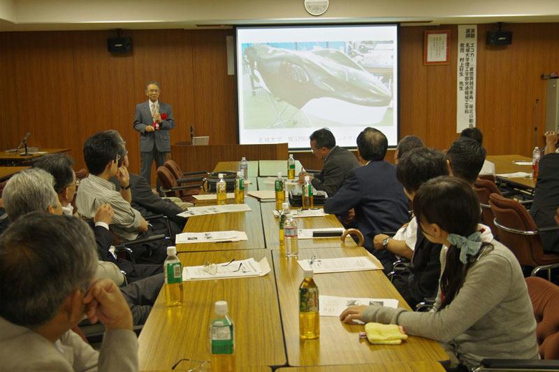 理工学部交通機械工学科の村上教授による講演