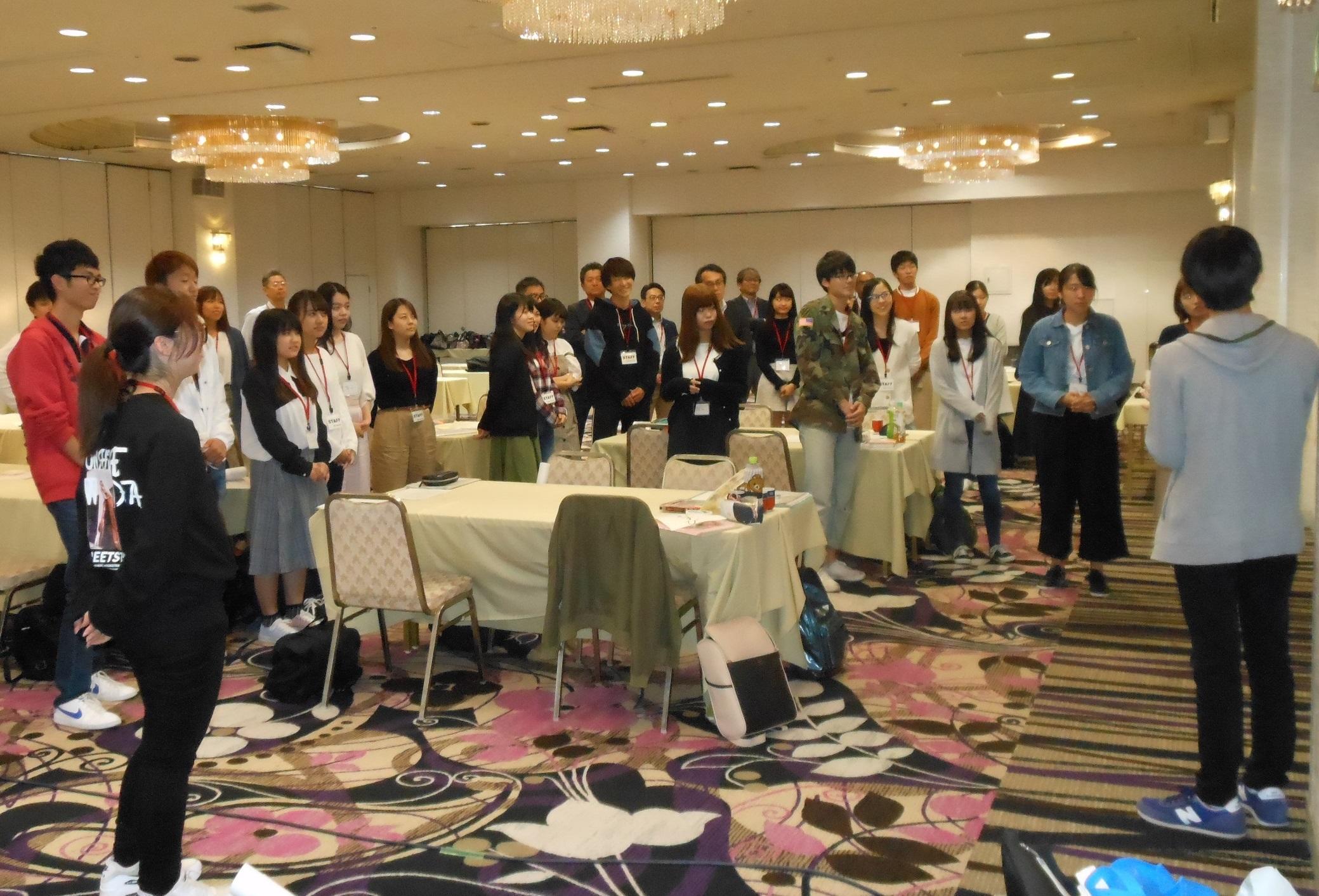 オリエンテーション合宿に参加した学生たち