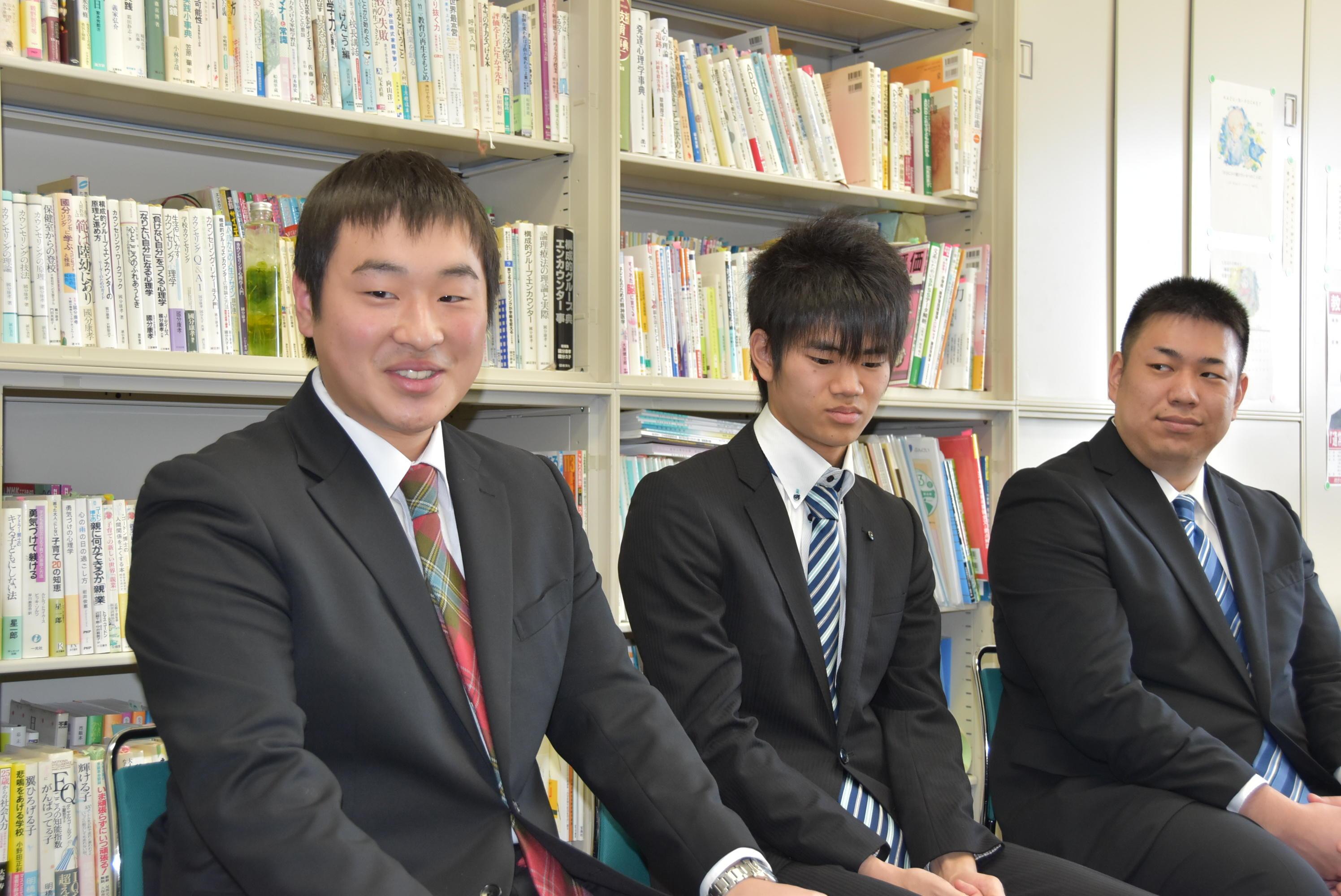 (右から)谷下さん、鳥居さん、三尾さん