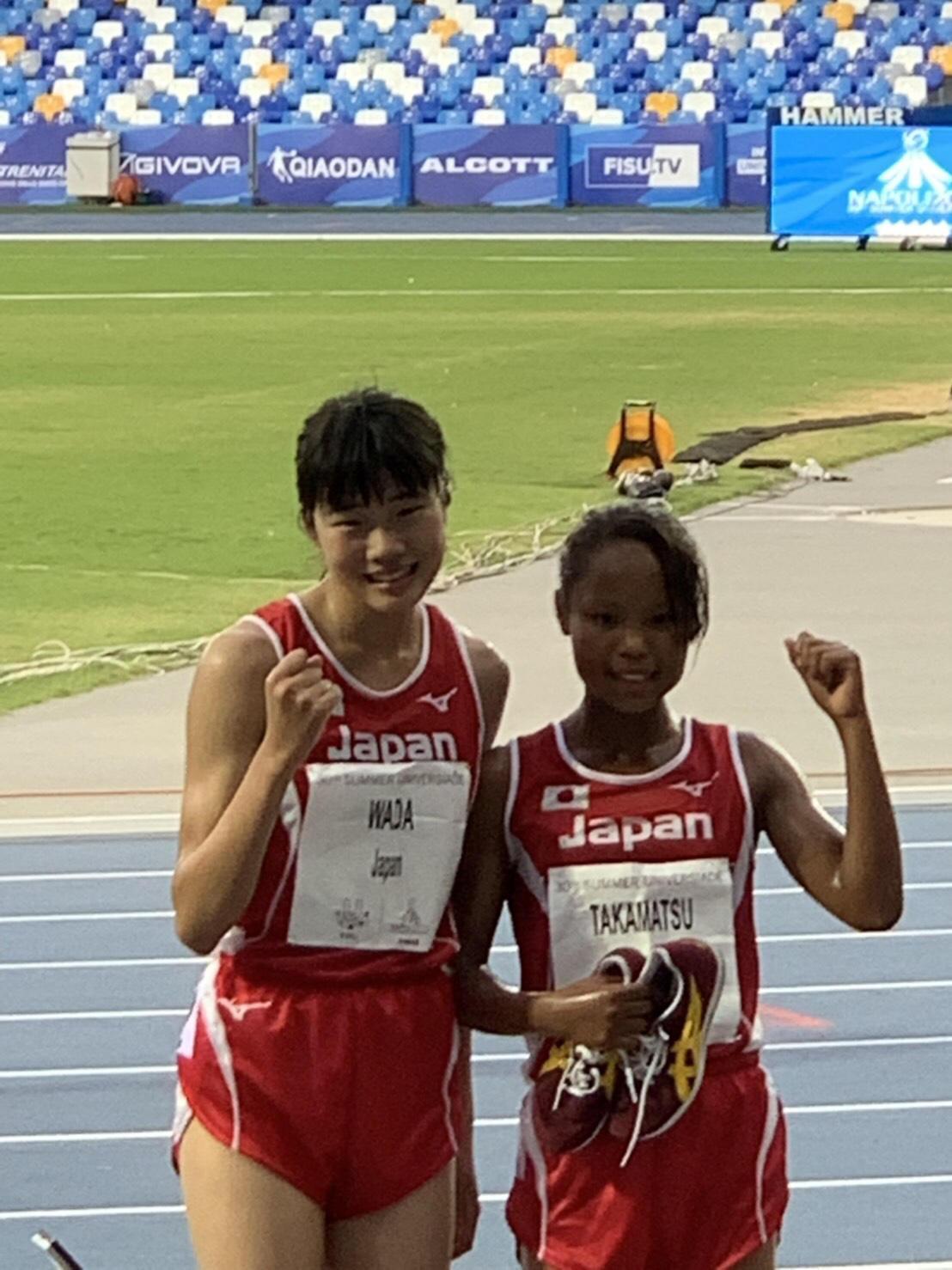和田選手(左)と髙松選手