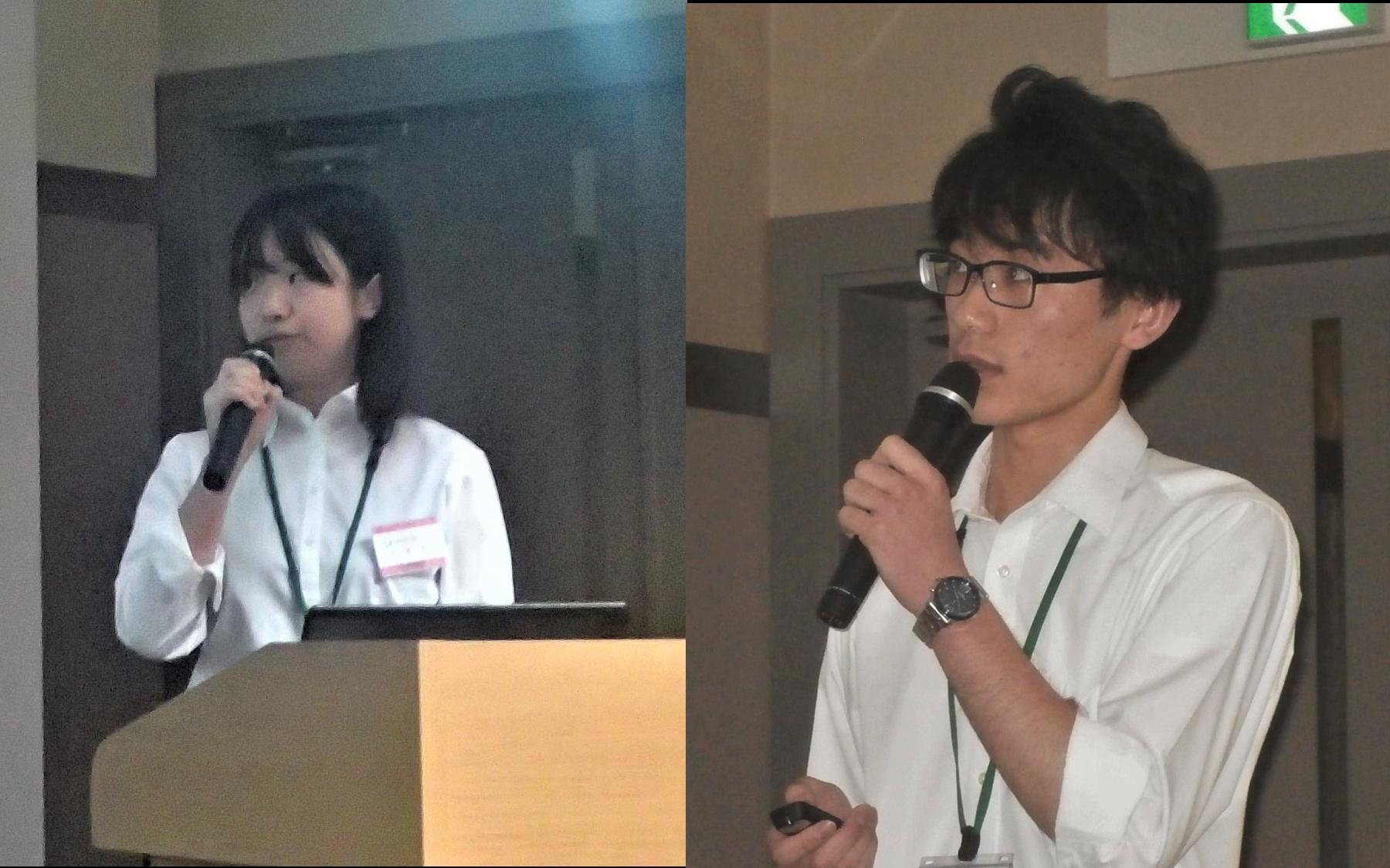 山﨑理央さん(左)と山本雄規さん