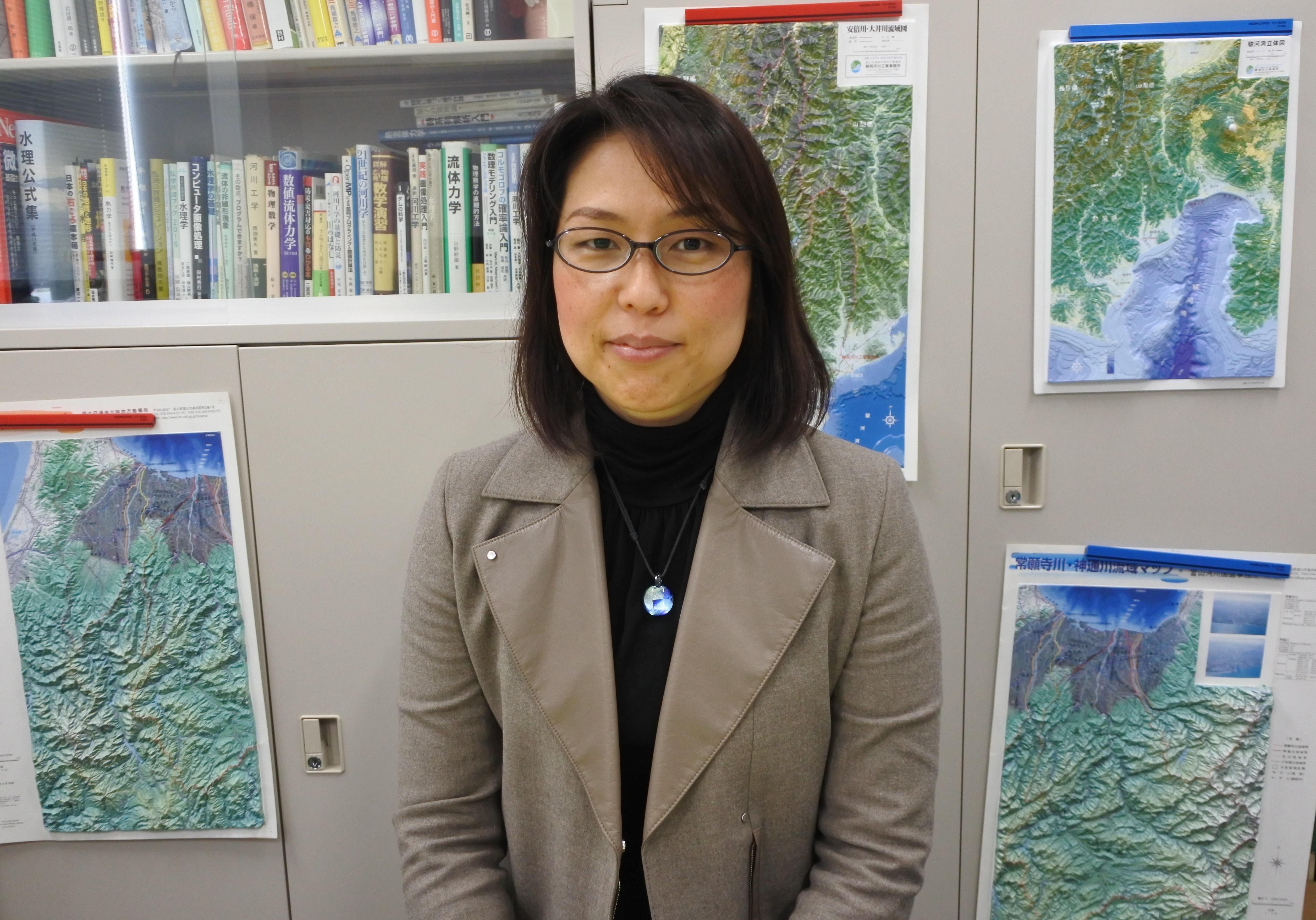 東北大学での防災・減災研究の抱負を語る溝口教授
