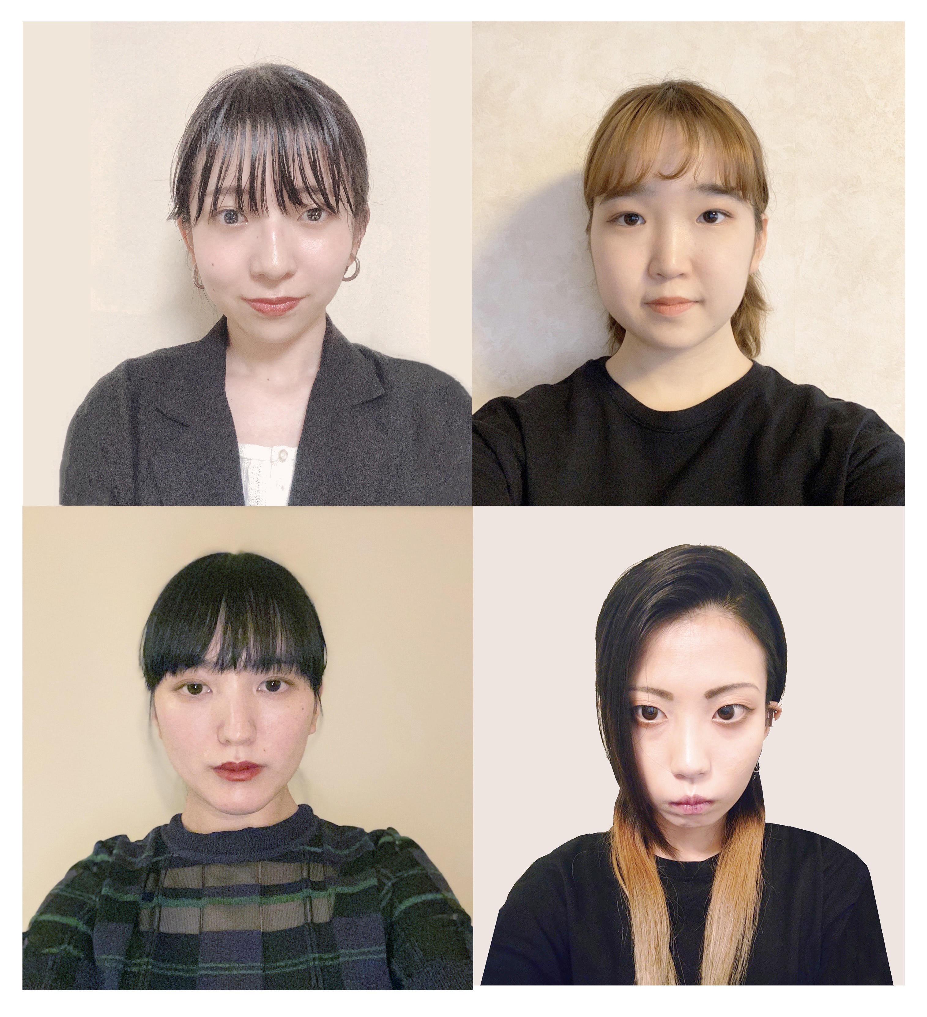 (左上) 鎌内さん(右上)伊藤さん(左下)清水さん(右下)岩村さん