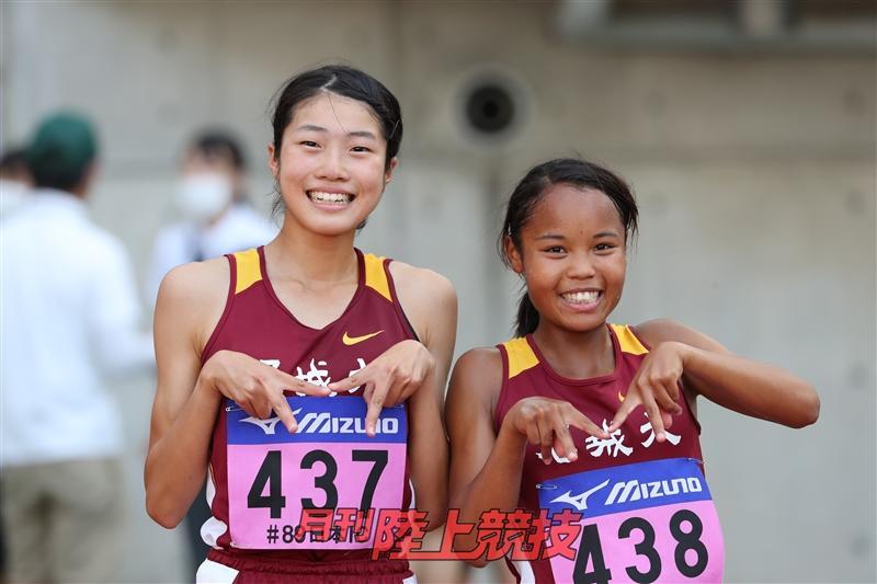 日本選手権決勝に進んだ和田さん(左)と髙松さん(右)