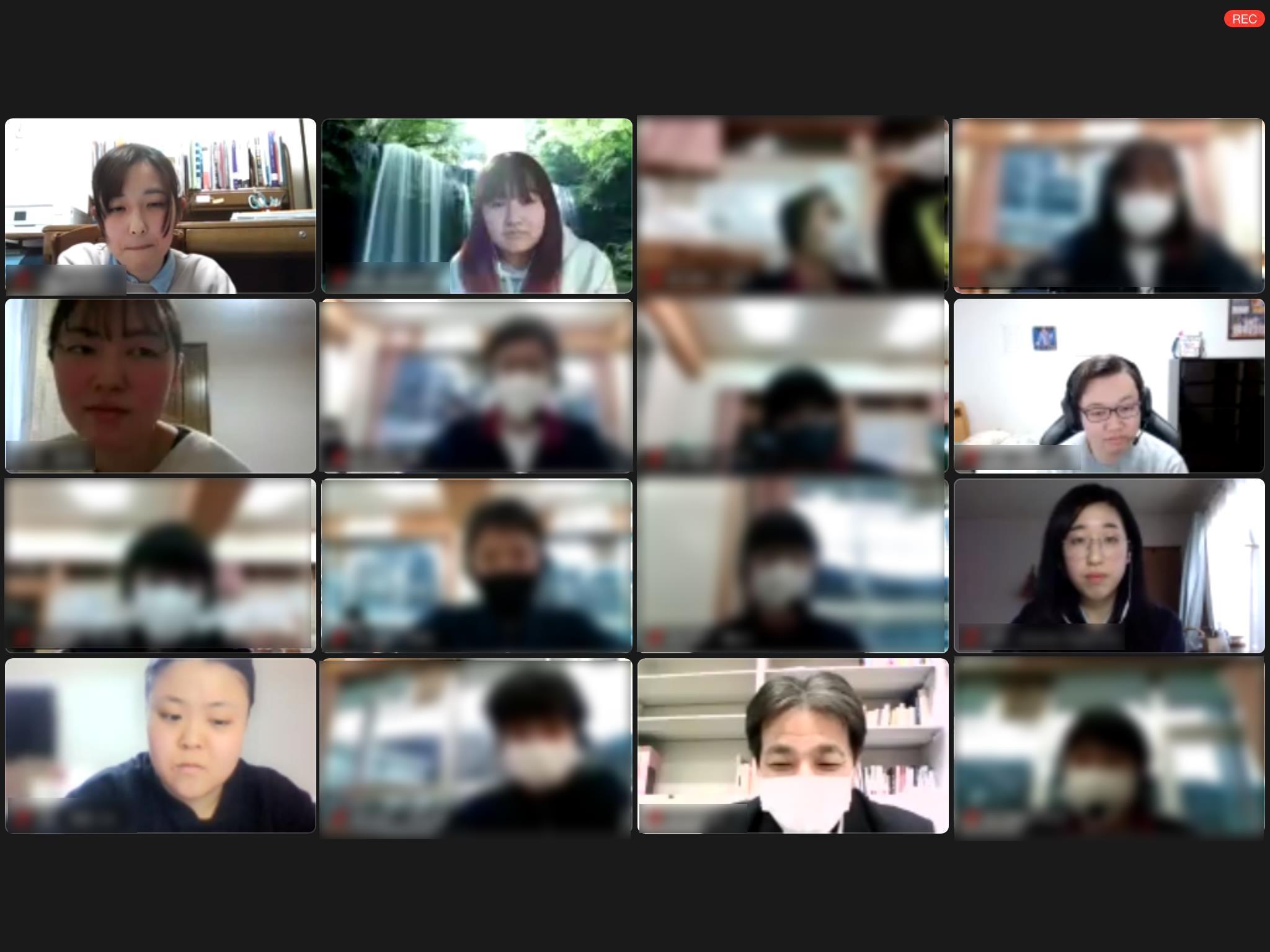 学生有志グループが長野県南木曽町の南木曽中学生をオンラインで学習支援