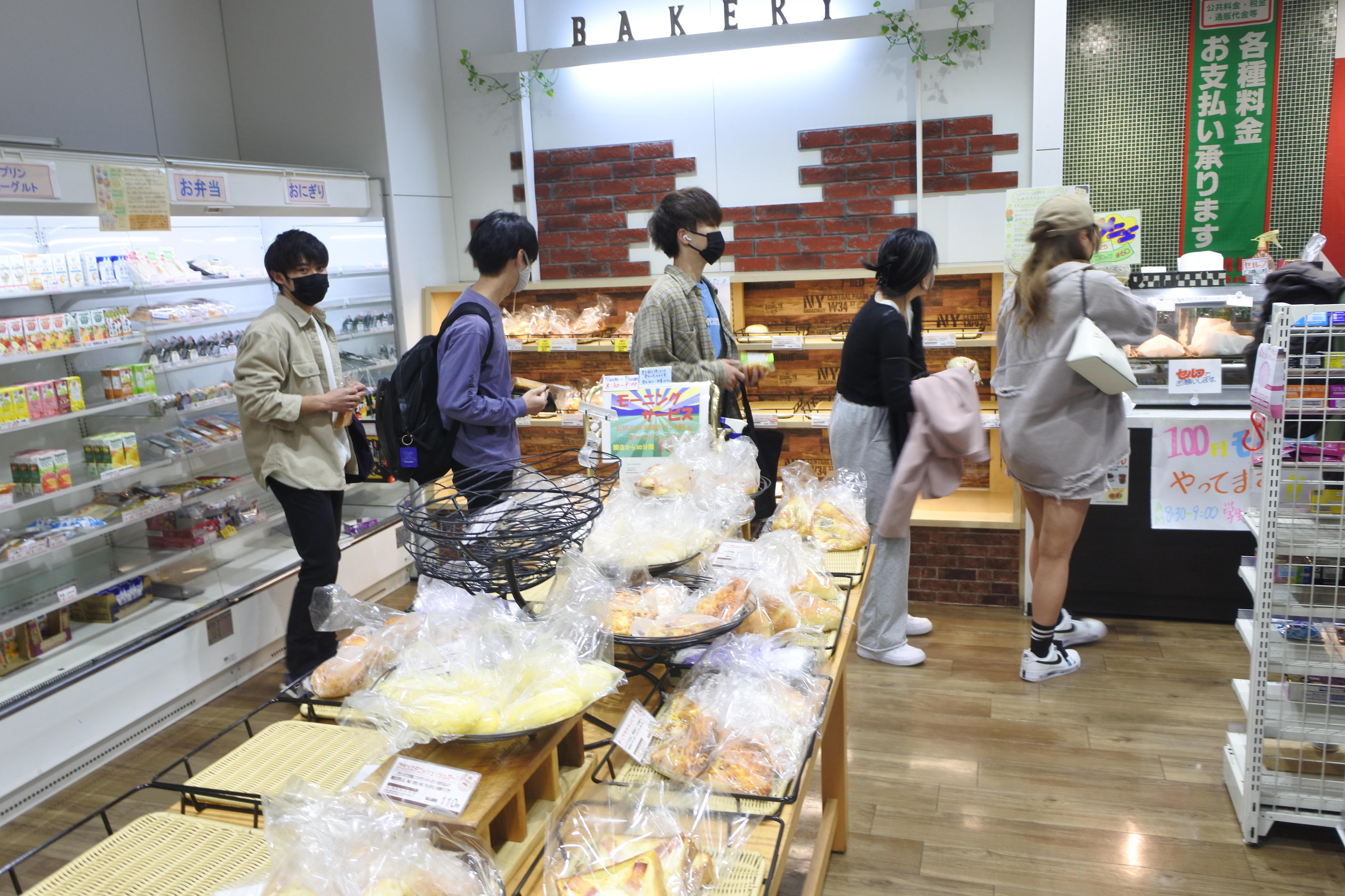 いろいろ選べるラボカフェのパン