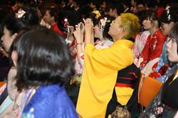 愛知県体育館での卒業式前の中山さん